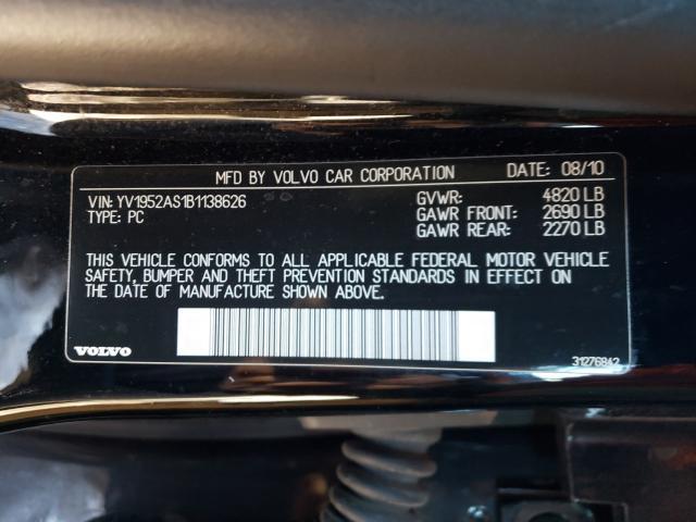 2011 VOLVO S80 3.2 YV1952AS1B1138626
