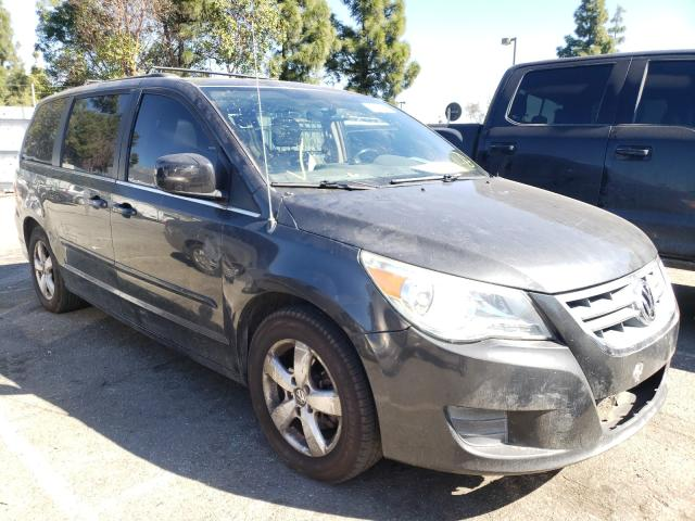 Salvage cars for sale from Copart Rancho Cucamonga, CA: 2011 Volkswagen Routan SEL