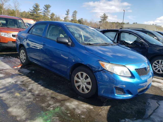 Salvage cars for sale from Copart Exeter, RI: 2009 Toyota Corolla BA