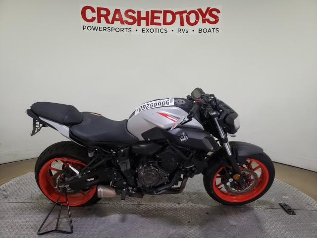 Salvage cars for sale from Copart Dallas, TX: 2019 Yamaha MT07