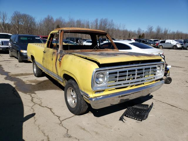 Dodge RAM salvage cars for sale: 1975 Dodge RAM