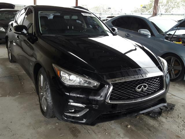 Salvage cars for sale from Copart Homestead, FL: 2018 Infiniti Q50 Luxe