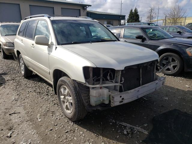 Salvage cars for sale from Copart Eugene, OR: 2003 Toyota Highlander