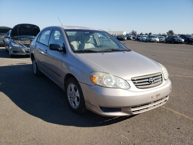 Salvage cars for sale from Copart Sacramento, CA: 2003 Toyota Corolla CE