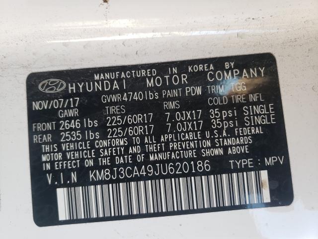2018 HYUNDAI TUCSON SEL KM8J3CA49JU620186