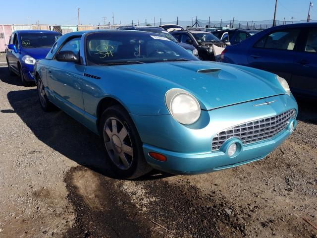Salvage cars for sale from Copart San Martin, CA: 2002 Ford Thunderbird