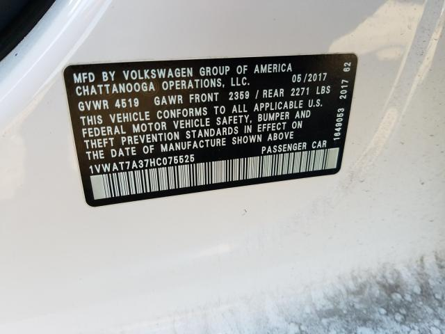 2017 Volkswagen PASSAT | Vin: 1VWAT7A37HC075525