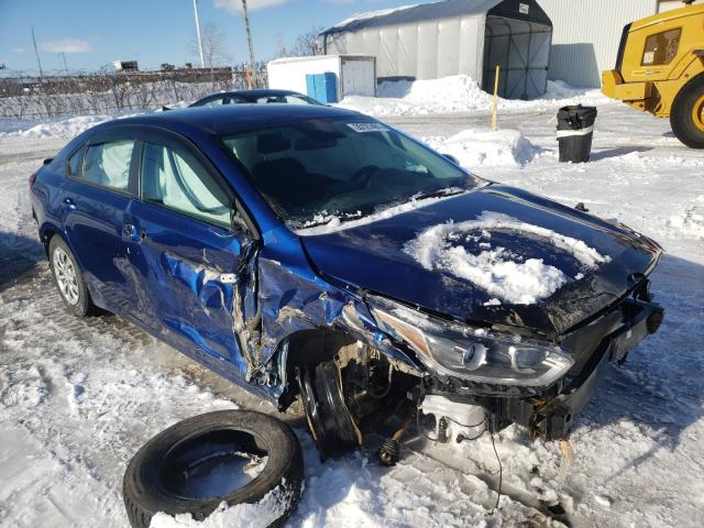 Salvage cars for sale from Copart Montreal Est, QC: 2020 KIA Forte FE
