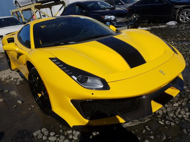 Salvage cars for sale from Copart Windsor, NJ: 2020 Ferrari 488 Pista