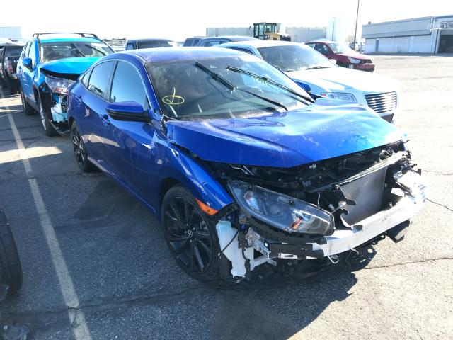 Salvage cars for sale from Copart Pasco, WA: 2019 Honda Civic Sport