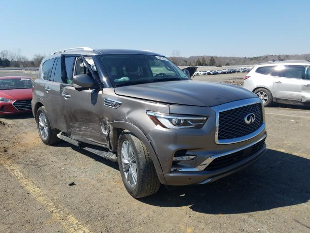 Salvage cars for sale from Copart Concord, NC: 2019 Infiniti QX80 Luxe