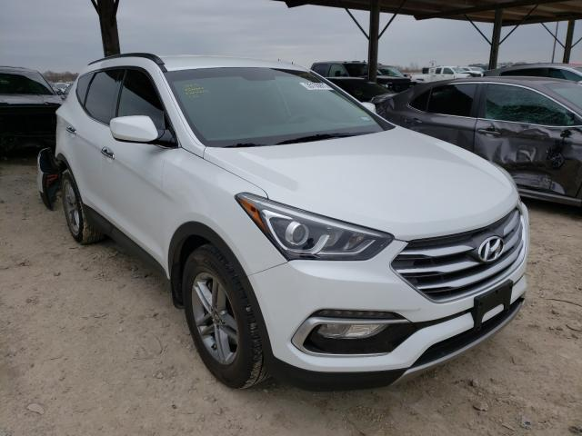 Salvage cars for sale from Copart Temple, TX: 2017 Hyundai Santa FE S