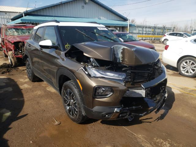 Salvage cars for sale from Copart Pekin, IL: 2021 Chevrolet Trailblazer