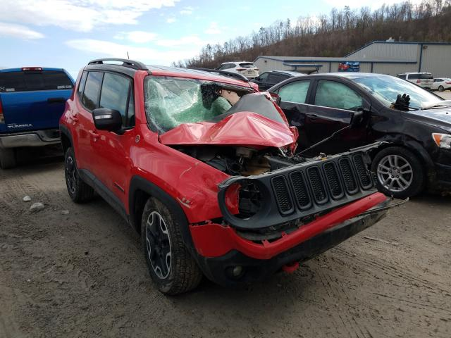 Salvage cars for sale from Copart Hurricane, WV: 2015 Jeep Renegade T