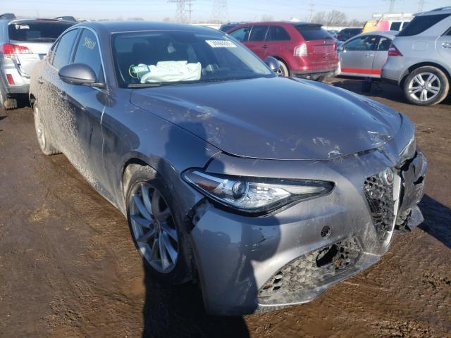 Salvage cars for sale at Elgin, IL auction: 2017 Alfa Romeo Giulia Q4