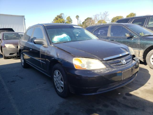 Salvage cars for sale from Copart Vallejo, CA: 2003 Honda Civic LX