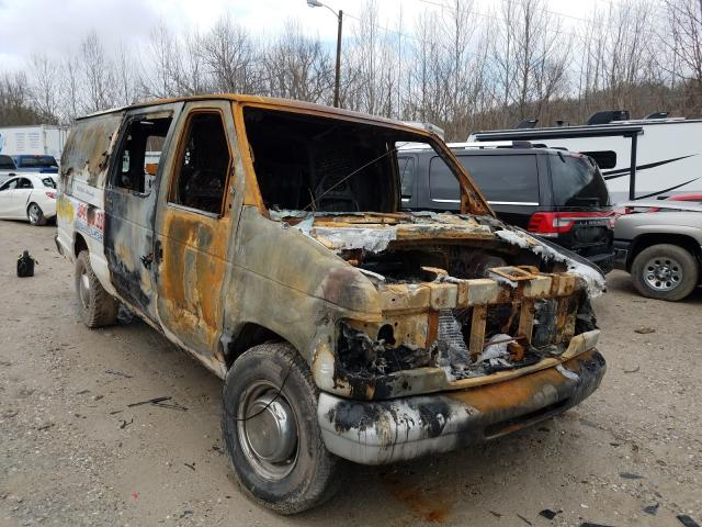 Salvage cars for sale from Copart Hurricane, WV: 2001 Ford Econoline