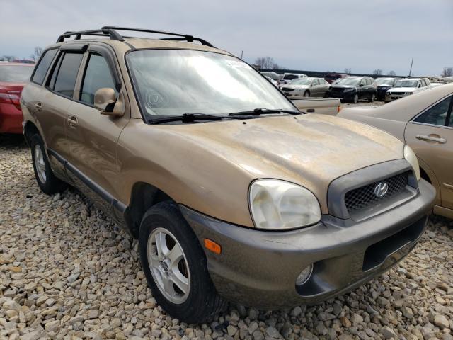 Salvage cars for sale from Copart Sikeston, MO: 2004 Hyundai Santa FE G