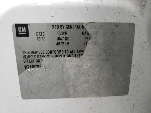 2011 CHEVROLET CRUZE LS 1G1PC5SH6B7122550
