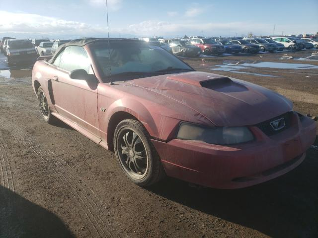 Ford salvage cars for sale: 2002 Ford Mustang GT