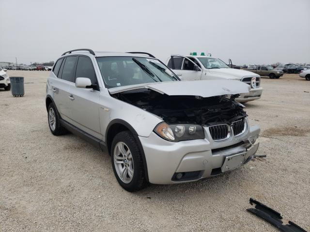 Salvage cars for sale from Copart San Antonio, TX: 2006 BMW X3 3.0I