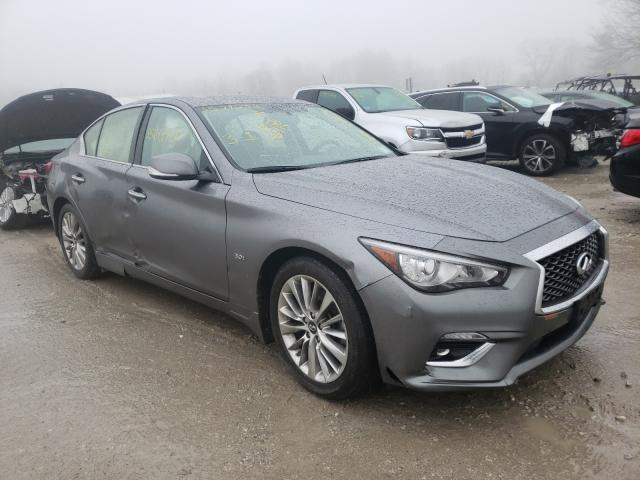 Salvage cars for sale at West Warren, MA auction: 2019 Infiniti Q50 Luxe