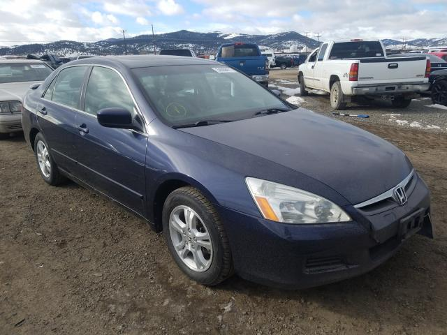 Salvage cars for sale from Copart Helena, MT: 2007 Honda Accord EX