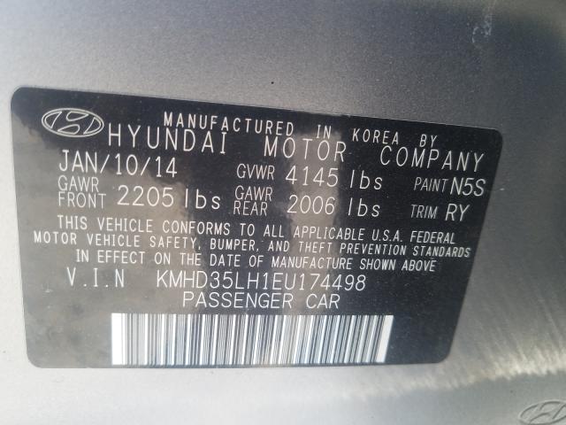 2014 HYUNDAI ELANTRA GT KMHD35LH1EU174498