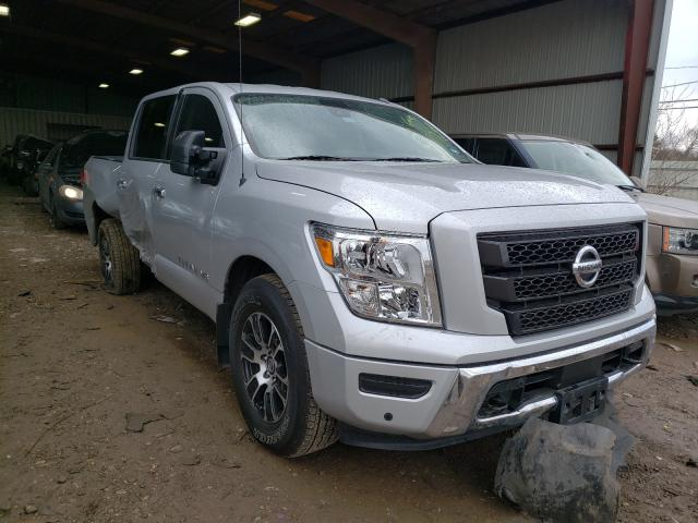 Salvage cars for sale from Copart Houston, TX: 2020 Nissan Titan SV