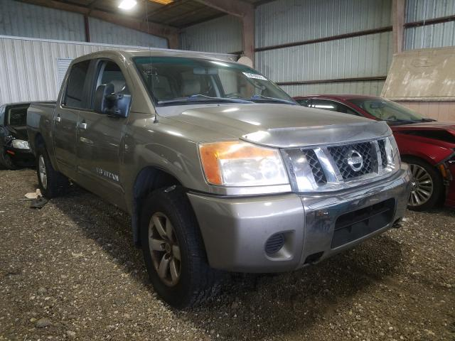 Salvage cars for sale from Copart Houston, TX: 2009 Nissan Titan XE