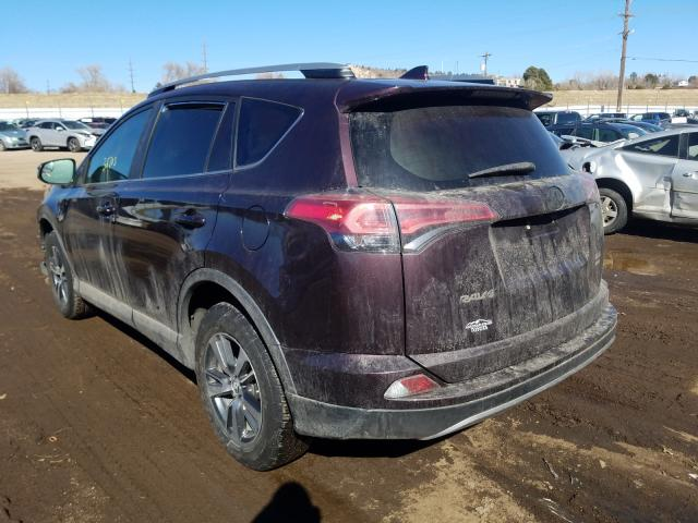 2017 TOYOTA RAV4 XLE - Right Front View