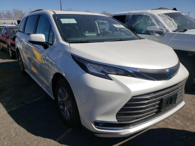 Salvage cars for sale from Copart Colton, CA: 2021 Toyota Sienna XLE
