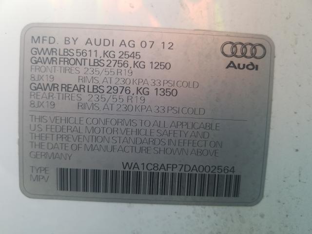 2013 AUDI Q5 TDI WA1C8AFP7DA002564