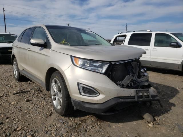 Salvage cars for sale from Copart Pasco, WA: 2018 Ford Edge Titanium