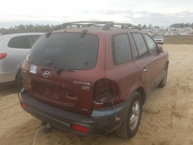 2003 HYUNDAI SANTA FE G - Right Rear View