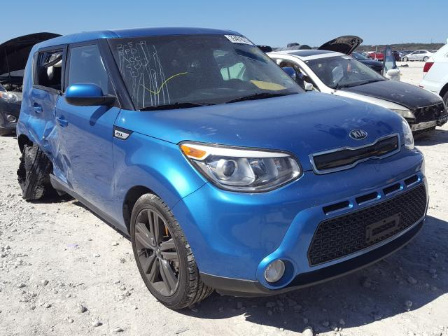 Salvage cars for sale from Copart New Braunfels, TX: 2015 KIA Soul +