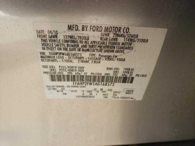 2010 FORD TAURUS LIM 1FAHP2FW1AG168573