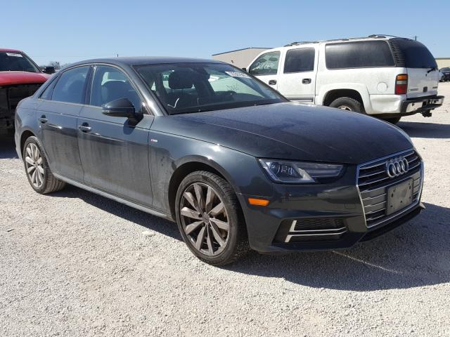 Salvage cars for sale from Copart San Antonio, TX: 2018 Audi A4 Premium