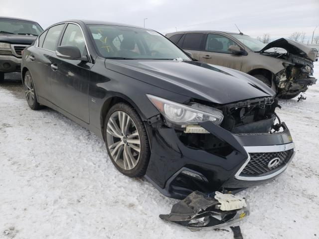 Salvage cars for sale from Copart Nisku, AB: 2018 Infiniti Q50 Luxe