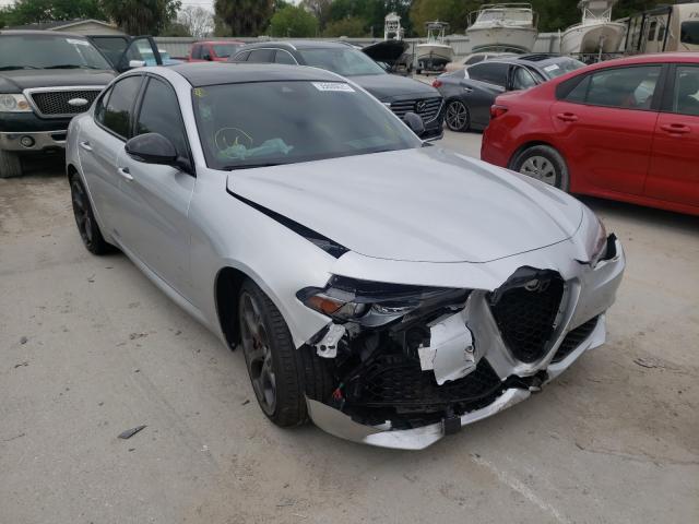 Salvage cars for sale from Copart Riverview, FL: 2019 Alfa Romeo Giulia TI