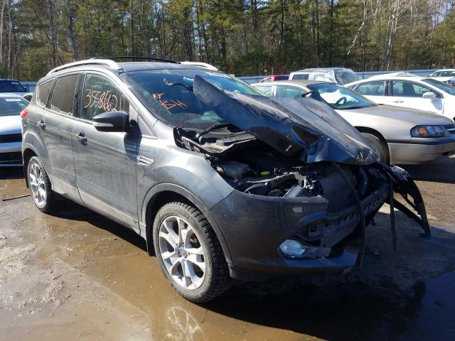 Salvage cars for sale from Copart Lyman, ME: 2016 Ford Escape Titanium