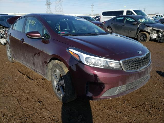 Salvage cars for sale from Copart Elgin, IL: 2018 KIA Forte LX