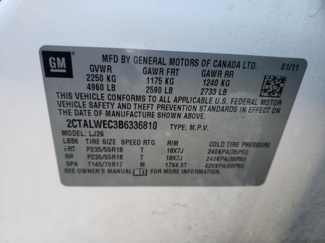 2011 GMC TERRAIN SL 2CTALWEC3B6336810