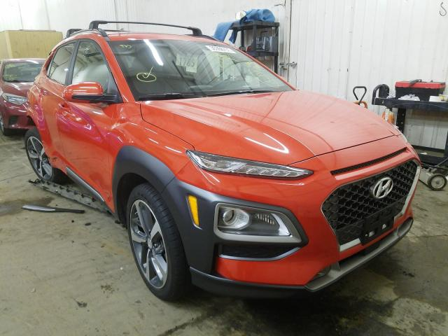 Salvage cars for sale from Copart Ham Lake, MN: 2020 Hyundai Kona Ultim