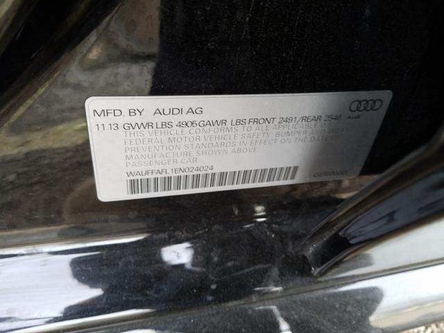 2014 AUDI A4 PREMIUM WAUFFAFL1EN024024