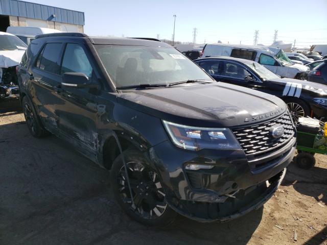 Salvage cars for sale from Copart Woodhaven, MI: 2019 Ford Explorer S
