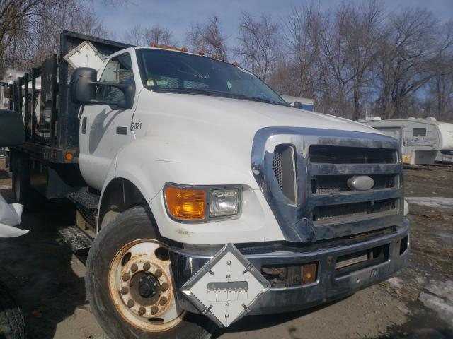 Salvage cars for sale from Copart Albany, NY: 2008 Ford F650 Super