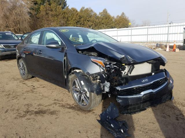 Salvage cars for sale from Copart London, ON: 2020 KIA Forte EX