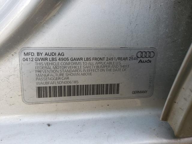 2013 AUDI A4 PREMIUM WAUBFAFL5DN006185