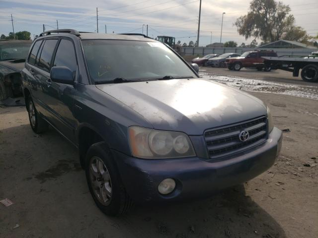 Salvage cars for sale from Copart Riverview, FL: 2002 Toyota Highlander